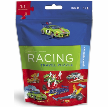Crocodile Creek Travel Pouch Puzzle - Race Car