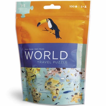 Crocodile Creek Travel Pouch Puzzle - World
