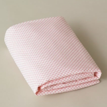 DwellStudio Check Blossom - Fitted Crib Sheet