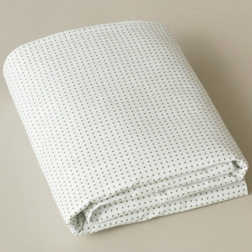 DwellStudio Pin Dot Moss Fitted Crib Sheet