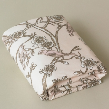 DwellStudio Vintage Blossom Blush Fitted Crib Sheet