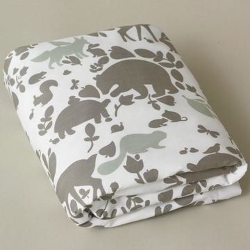 DwellStudio Woodland Tumble Mocha Fitted Crib Sheet