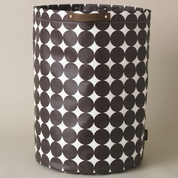 DwellStudio Dots Chocolate Cylinder Storage Bin