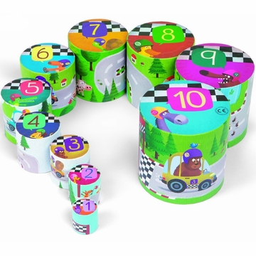 Janod Racing Round Stacking Set