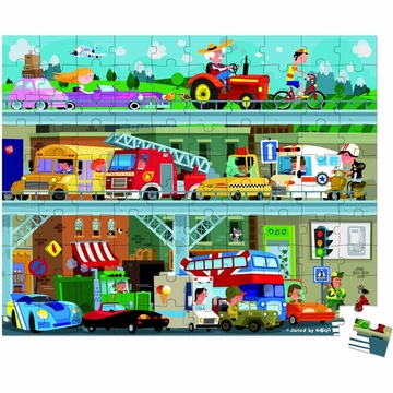 Janod Vehicles Puzzle 100 Pcs