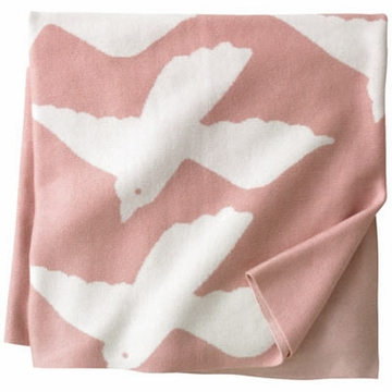 DwellStudio Birds Petal Graphic Knit Blanket