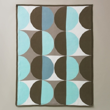 DwellStudio Geometric Blue Multi Knit Blanket
