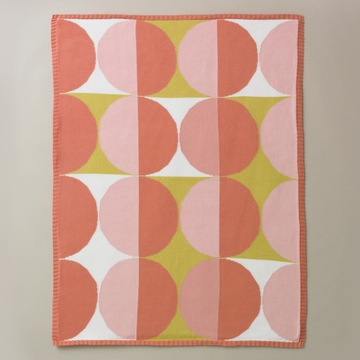 DwellStudio Geometric Pink Multi Knit Blanket