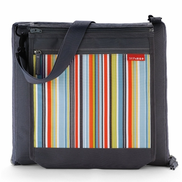 Skip Hop Central Park Outdoor Blanket - Charcoal / Metro Stripe