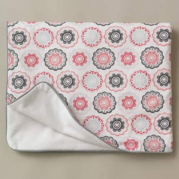 DwellStudio Zinnia Rose Stroller Blanket - Flannel