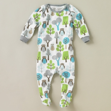 DwellStudio Owls Sky Footie Playsuit 6-12 Mo.