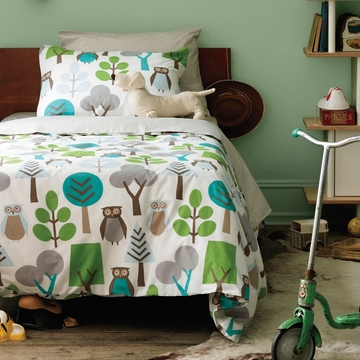 DwellStudio Owls Sky Twin Duvet Set