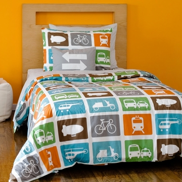 DwellStudio Transportation Multi Twin Duvet Set