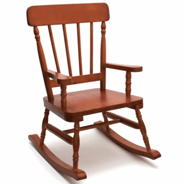 Lipper International High Back Child Rocker in Cherry