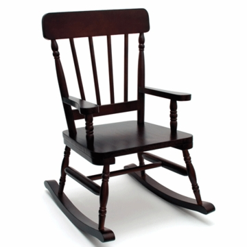 Lipper International High Back Child Rocker in Espresso