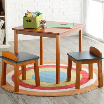 Lipper International Child's Table & Stools Set - Pecan