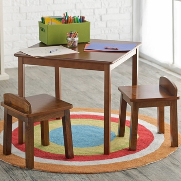 Lipper International Child's Table & Stools Set - Walnut