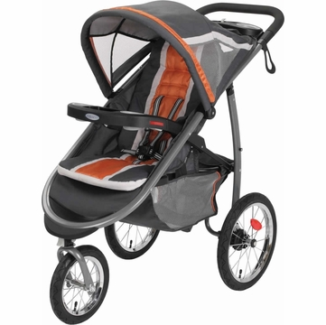 Graco FastAction Fold Click Connect Jogging Stroller - Tangerine