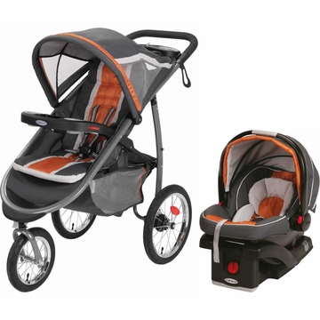 Graco Fast Action Jogger & Snugride Click Connect Travel System - Tangerine