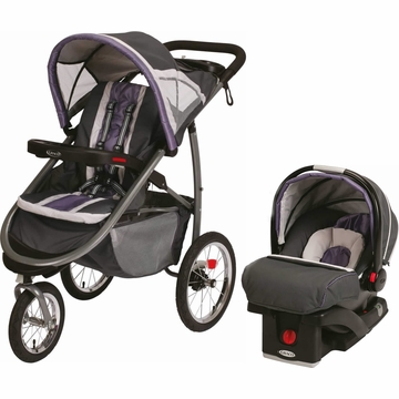 Graco Fast Action Jogger & Snugride Click Connect Travel System - Grapeade