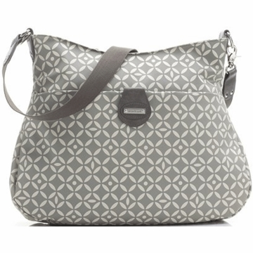 Storksak Nina Diaper Bag in Antalya Grey Print