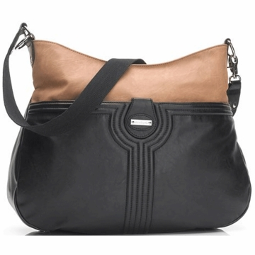 Storksak Nina Diaper Bag in Black/Tan