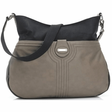 Storksak Nina Diaper Bag in Taupe/Black