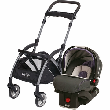 Graco Snugride Click Connect Infant Car Seat and Frame Bundle - Grapeade