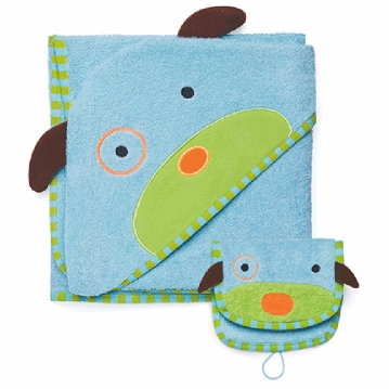 Skip Hop ZOO Hooded Towel & Mitt Set in Dog
