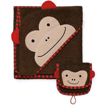 Skip Hop ZOO Hooded Towel & Mitt Set in Monkey