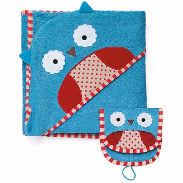 Skip Hop ZOO Hooded Towel & Mitt Set in Owl