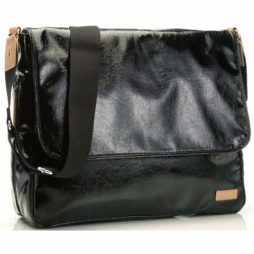 Storksak Dori Diaper Bag in Black/Tan