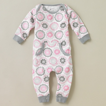 DwellStudio Zinnia Rose Playsuit 0-3 Mo.