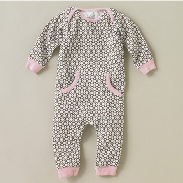 DwellStudio Starburst Chocolate Playsuit 3-6 Mo.