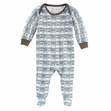 DwellStudio Cars Grey Playsuit 0-3 Mo.
