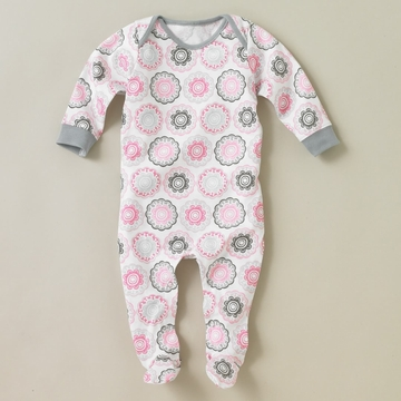 DwellStudio Zinnia Rose Footie Playsuit 3-6 Mo.