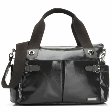 Storksak Kate Diaper Bag in Charcoal Patent