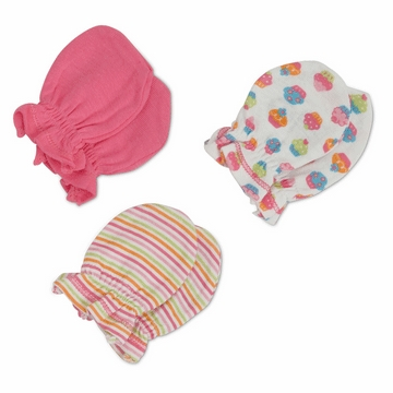 Gerber Girl 3 Pack Mittens