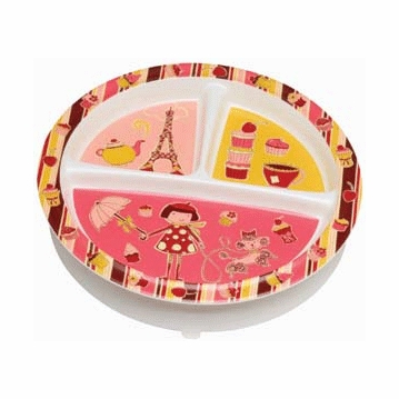 Sugar Booger Cupcake Divided Suction Plate