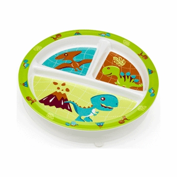 Sugar Booger Prehistoric Pals Divided Suction Plate