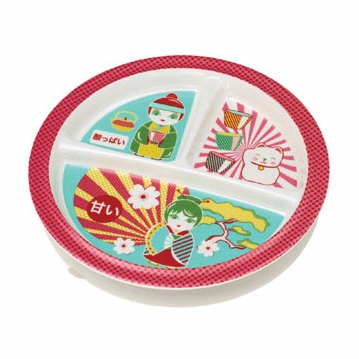 Sugar Booger Sweet & Sour Divided Suction Plate