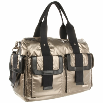 Storksak Sophia Nylon Diaper Bag in Graphite