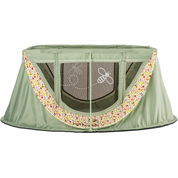 ParentLab journeyBee Portable Crib in Sage