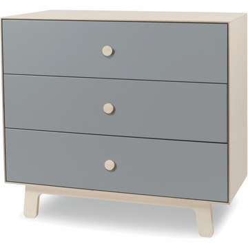 Oeuf Merlin 3-Drawer Dresser with Sparrow Base in Grey