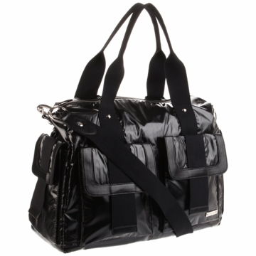 Storksak Sophia Nylon Diaper Bag in Black Pearl