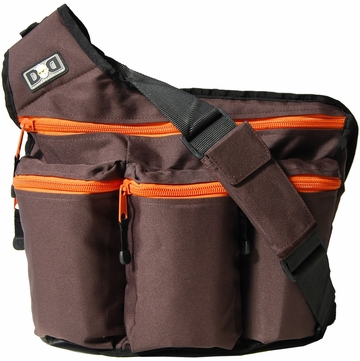 Diaper Dude Original Diaper Bag - Brown / Orange