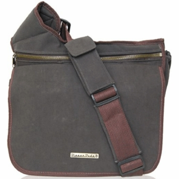 Diaper Dude Messenger Diaper Bag - Brown Faux Suede