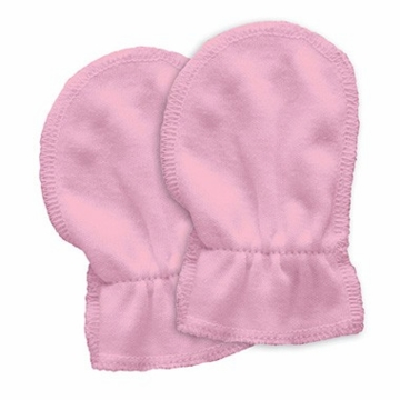 Green Sprouts Organic Cotton Mitts 2pk - Rose (Birth to 6 weeks)