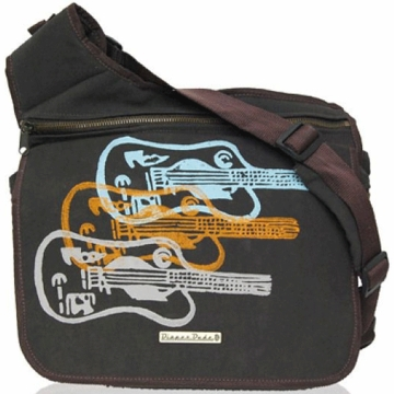 Diaper Dude Messenger Diaper Bag - Guitar Faux Suede