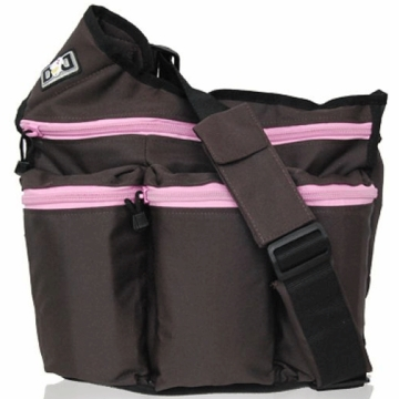 Diaper Dude Diva Diaper Bag - Brown with Pink Zipper
